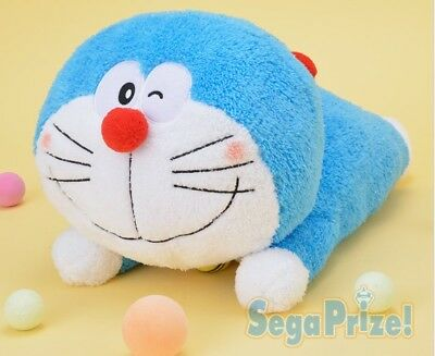 2018 Japan Sega Doraemon Mega Jumbo Fluffy Lying Down Plush 42cm