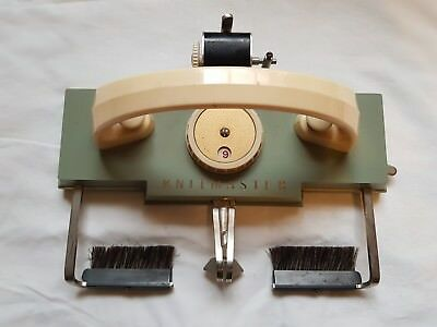 Rare Silver Reed Knitmaster Knitting Machine Super Plus 1953 K Carriage Working