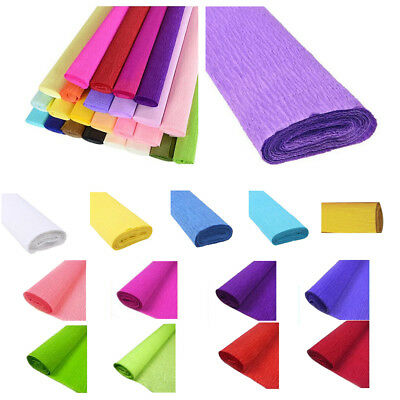 1 Roll DIY Flower Packing Crepe Papers Handmade Materials Crinkled Paper fo A6T7
