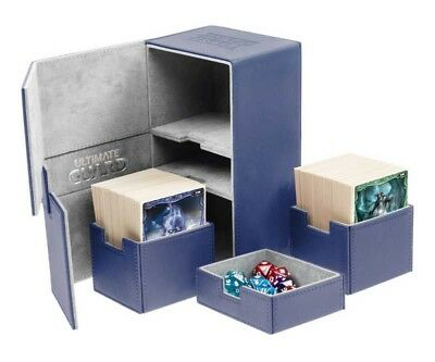 Ultimate Guard - Twin Flip'n'Tray Xenoskin Deck Case 200+ Blue - Gaming Box