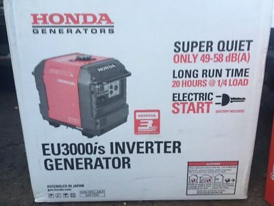 New Honda EU3000iS 3000W Super Quiet 6.5 HP Inverter Generator