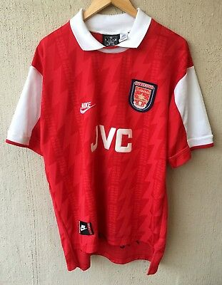 NIKE Classic retro style ARSENAL FC Home jersey ex cond size large 58 cm chest