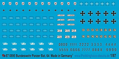 Peddinghaus-Decals 1/87 0895 Bundeswehr Panzerbatallion 64