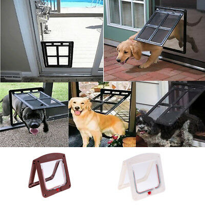 Pet Door Kit for Cats and Small Dogs with Telescopic Frame Installing Easily