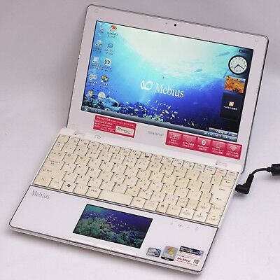 Sharp Mebius LCD TrackPad White NetBook Computer From Japan PC-NJ70A