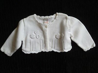 Baby clothes GIRL 0-3m NEXT white cardigan 1-button SEE SHOP! COMBINE POST!