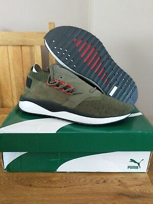 X Puma Tsugi Shinsei Nocturnal mens trainers, UK 11 in Olive/black, BNIB