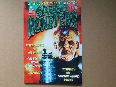 Space Monsters #5, Dr Who Special Edition, New, Free Uk P+P. Peter Cushing,munro