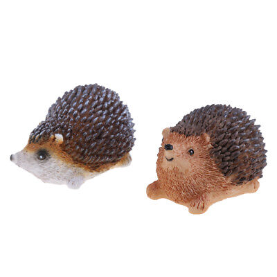 MagiDeal 2x Mini Hedgehog Fairy Garden Decor Figurine Micro Landscape Set #1