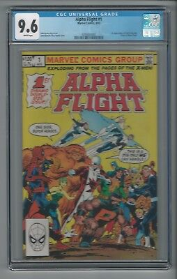 Alpha Flight #1 CGC 9.6 NM+ Origin of Team + 1st Appearance of Puck & Marrina