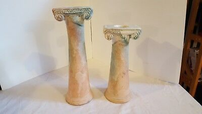 Tony Evans Pottery Designs  2 Tea Light Candle Holders Signed