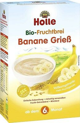 (3 Boxes ) Holle Organic Baby Porridge Cereal Semolina Banana New FREE SHIPPING