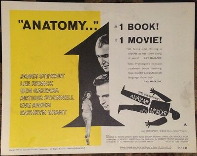 Anatomy Of A Murder Movie Film Poster Title Card Saul Bass