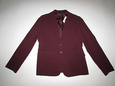 06b16f992 NEW YORK & Company Women's 2 Button Blazer Jacket Size 10 NWT Dark Red Suit  Coat