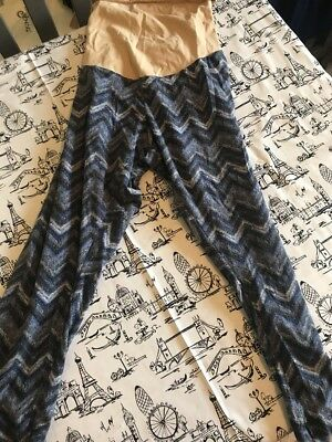 Motherhood Maternity Leggings Blue Size XL