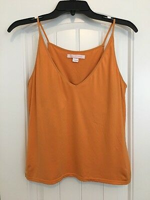 Victoria's Secret Women's Orange Shelf Bra Camisole Cami Tank Size L Large