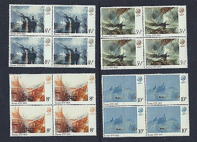 GB QEII - 1975 PAINTINGS BY TURNER - SG 971 to 974 - Set of 4 BLOCKS of 4  - MNH