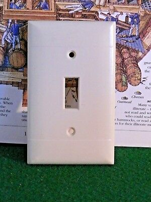 Vintage Bakelite Sierra Ivory Color  Single toggle SWITCH Wall Cover Plate