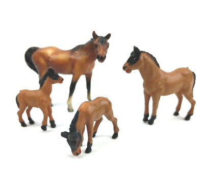 Vintage Breyer Molding Co.1976 Horse and Miniature Horses Lot of 4 Horses