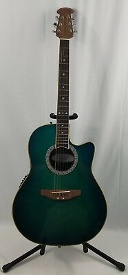 Used Ovation CC057 Celebrity Black Acoustic Electric Guitar