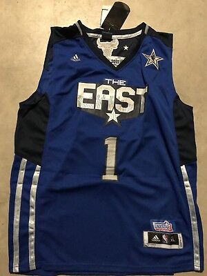 size 40 58c1c 60f84 CHICAGO BULLS DERRICK Rose autographed signed NBA Jersey The East All-Star  Blue