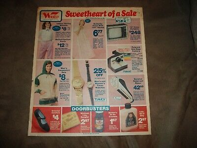 Vintage 1981  Woolco  Sales Ad From Sunday Newspaper  Supplement