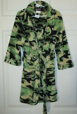 Hotshot Green Camo Camouflage Soft Fleece Robe XS 5 6