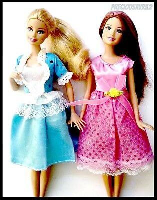 NEW barbie boll clothe 2 dresses wedding party evening clothes outfit brand new