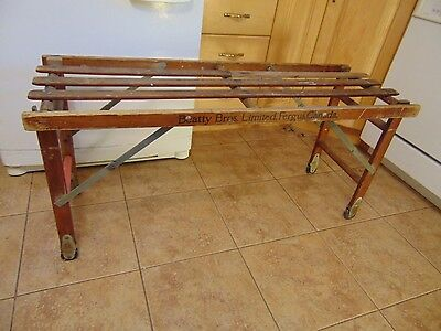 vintagE / ANTIQUE clothes washing woden tub bench   #  3732