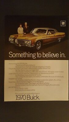 Vintage 1970 Buick Electra Limited ad advertising advertisement