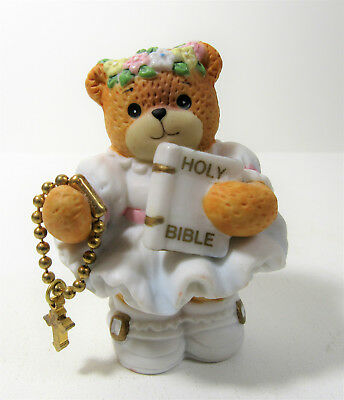 Lucy & Me ~ Holy Bible with Rosary Sunday School ~ Enesco Rigg Figurine