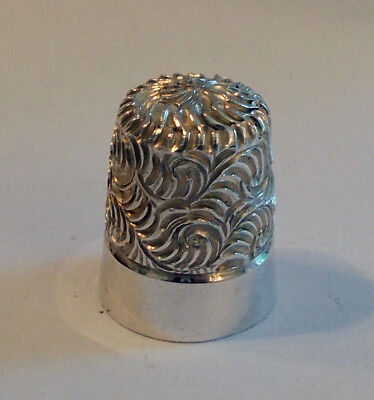 Thimble - Simons - Sterling Silver -Feathery Knurling