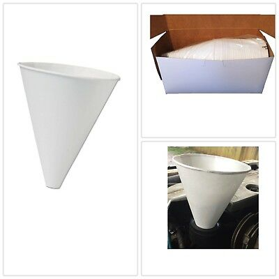 Paper Cone Oil Funnel 50ct Dot Red 10 oz Disposable US