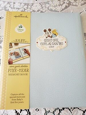 Hallmark Disney Baby Five Year Memory Book Blue Baby Book Mickey Mouse
