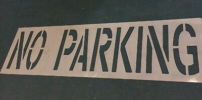 "NO PARKING Asphalt Pavement Stencil 24"" Letters Line Striping"