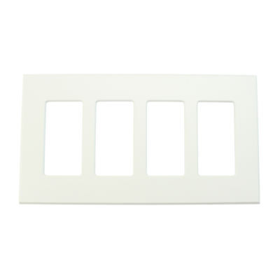 Lightolier Controls Fb4Sw Multi-Gang, 4-Gang, Faceplate Wall Plate, White