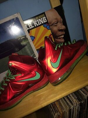 outlet store 7c91b c4ae1 Nike Lebron X  541100-600  Basketball 10 Christmas Pack Red Tourmaline Size