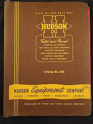 Vintage Hudson Equipment Company Catalogs In Binder-1949-1954 Vg Cond-No Reserve