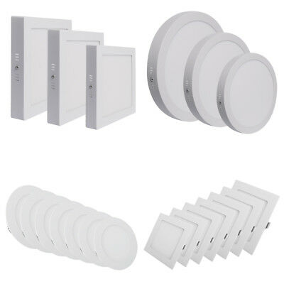 3W - 96W LED Ceiling Panel Light Downlight Kit Recessed Wall Mounted Panel Lamp