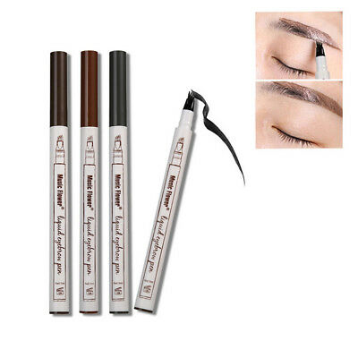 AU Waterproof Fork Tip Eyebrow Tattoo Pen Microblading Eyebrow Makeup Ink Sketch