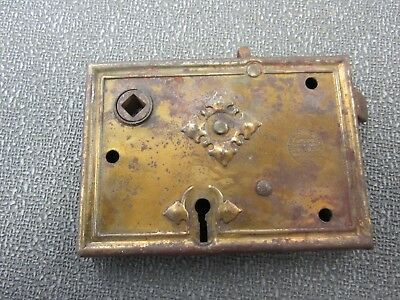 "ANTIQUE Russell & Erwin Mfg Co Lock  3.25"" X 4.5""  PAT. JUNE 11, 89   (1889 )"
