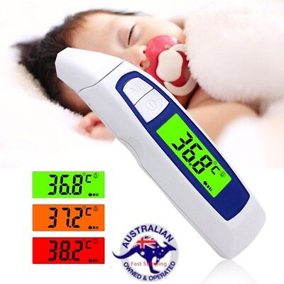 Non-Contact Infrared Digital Medical Forehead and Ear Thermometer For Baby Adult