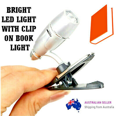 Book Reading LED Light Mini Bright Flexible Clip on Light Portable for Reading