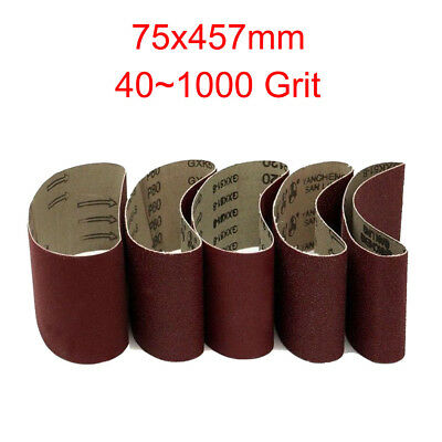 "3""x18""  Sanding Belts 75x457mm40~1000 Grit For Wood Metal Grinding Sander Tool"