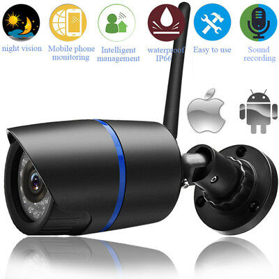 Security Wireless WIFI IP Audio Camera HD IR 1080P Outdoor W TF card slot-yoosee
