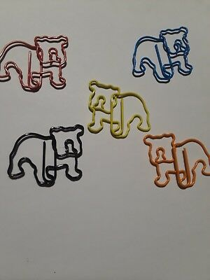 Bulldog Paperclips Set of 20 Multicolor