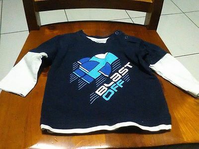 Baby Boys Long Sleeve Top .... VERY GOOD USED CONDITION *