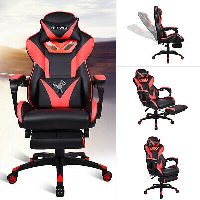 High Back Racing Gaming Chair Ergonomic Swivel Office Desk Task Recliner Seat