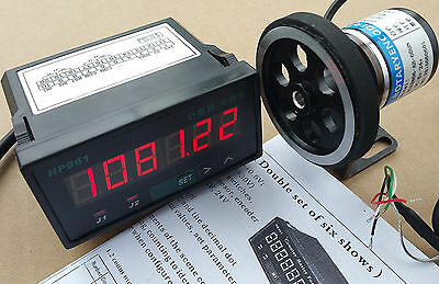 8 inch Length Wheel + Encoder + Support + Counter Grating 0.01 ft 'Display Meter