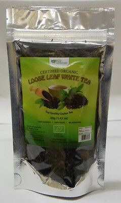 Certified Organic Loose Leaf White Tea 4x40g -- 35% Off Special & Free Postage